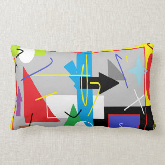 Crazy Geometry Funky Throw Pillow