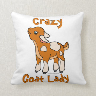 CRAZY GOAT LADY | by TotallyGoatally™ Cushion