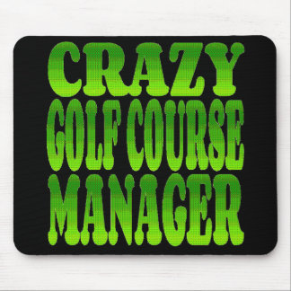 Crazy Golf Course Manager in Green Mouse Mat