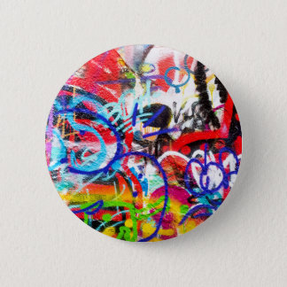 Crazy Graffiti 6 Cm Round Badge