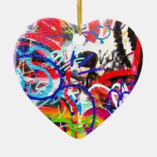 Crazy Graffiti Ceramic Heart Decoration