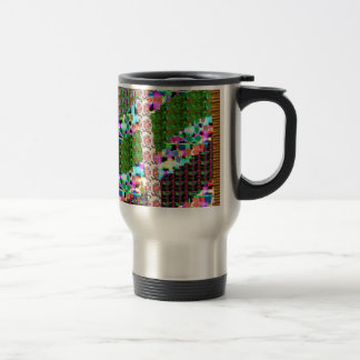 CRAZY Graphic Wave Patchwork Art GIFTS n Greetings Coffee Mug