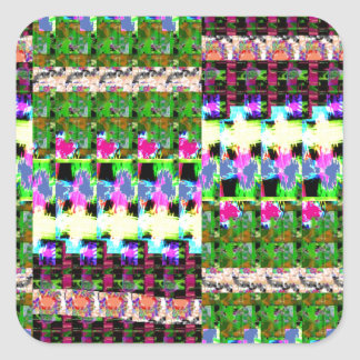 CRAZY Graphics PATCH work - Gifts, Shirts, Cards Square Sticker