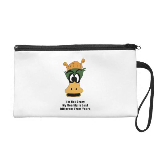 Crazy Green Cartoon Duck Different Reality Wristlet Clutches