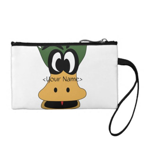 Crazy Green Cartoon Duck Different Reality Coin Purses