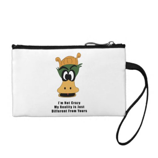 Crazy Green Cartoon Duck Different Reality Change Purse