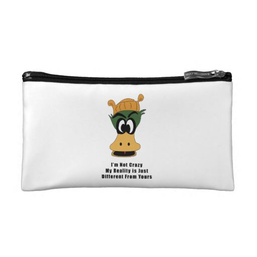 Crazy Green Cartoon Duck Different Reality Cosmetic Bag