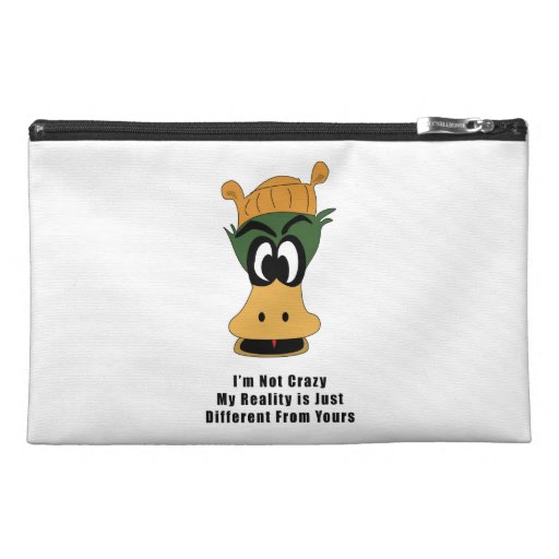 Crazy Green Cartoon Duck Different Reality Travel Accessories Bags