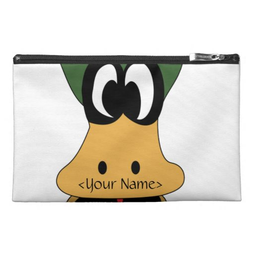 Crazy Green Cartoon Duck Different Reality Travel Accessories Bag
