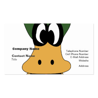 Crazy Green Cartoon Duck Different Reality Business Card Templates