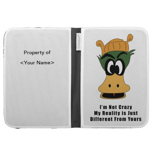 Crazy Green Cartoon Duck Different Reality Kindle Cover