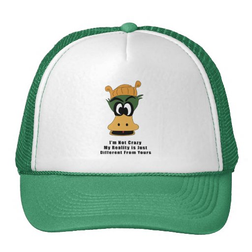 Crazy Green Cartoon Duck Different Reality Mesh Hat
