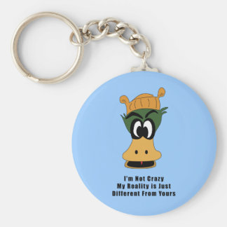 Crazy Green Cartoon Duck Different Reality Keychains