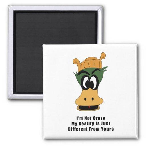 Crazy Green Cartoon Duck Different Reality Refrigerator Magnet