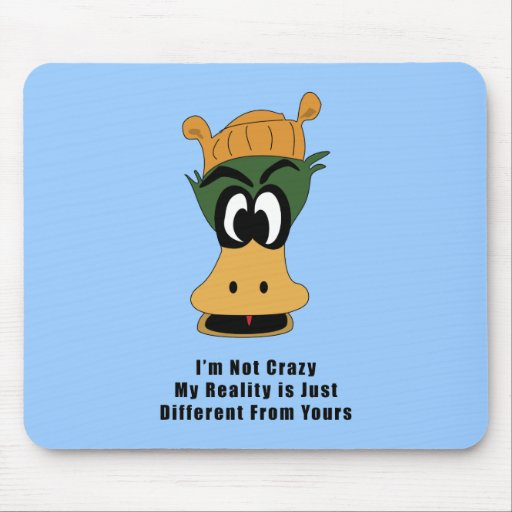 Crazy Green Cartoon Duck Different Reality Mouse Pads