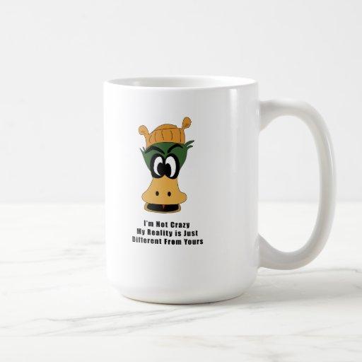Crazy Green Cartoon Duck Different Reality Coffee Mug
