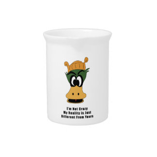 Crazy Green Cartoon Duck Different Reality Beverage Pitchers