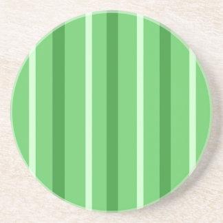 Crazy Green Stripes Coaster