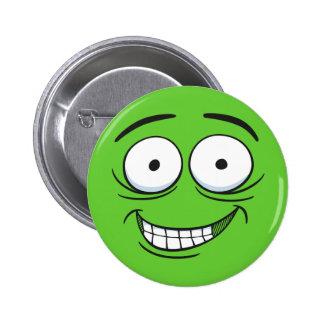 Crazy Grin Button