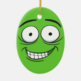 Crazy Grin Christmas Tree Ornament