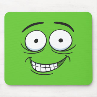 Crazy Grin Mouse Pad