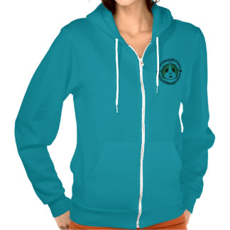 Crazy Guinea Pig Woman Ladies Zip Hoodie