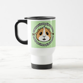 Crazy Guinea Pig Woman Travel Mug