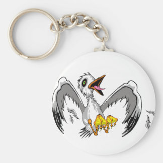 Crazy Gull Keychain
