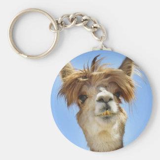 Crazy Hair Alpaca Key Ring