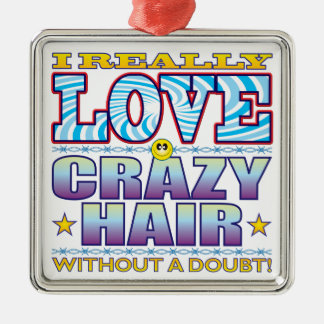 Crazy Hair Love Face Christmas Ornament