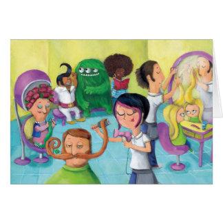 Crazy Hairdresser Saloon Card
