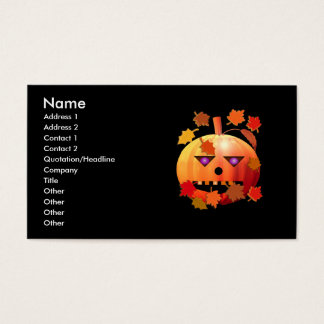 Crazy Halloween Pumpkin - Business Size Business Card