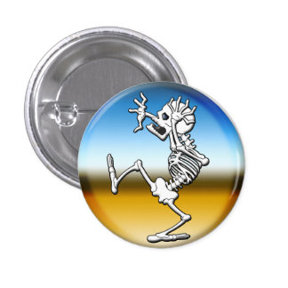 Crazy Halloween Skeleton 3 Cm Round Badge
