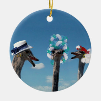 Crazy Hat Day at the Races Christmas Ornament