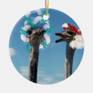 Crazy Hat Day at the Races Christmas Ornaments
