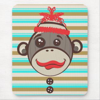 Crazy Hat Sock Monkey Mousepad