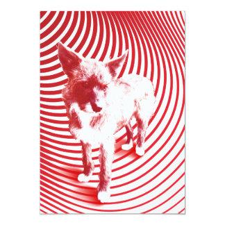 crazy hazie 13 cm x 18 cm invitation card