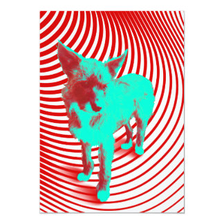 crazy hazie pups 13 cm x 18 cm invitation card
