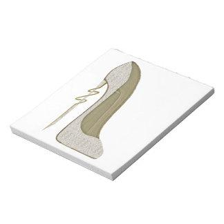 Crazy Heel Lace Stiletto Shoe Art Notepad