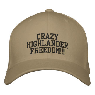 CRAZY HIGHLANDER FREEDOM EMBROIDERED BASEBALL CAP