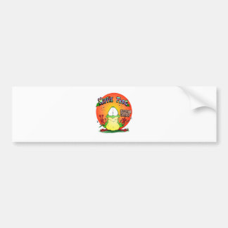 Crazy Hippie Frog Bumper Sticker