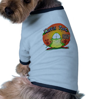 Crazy Hippie Frog Dog Shirt