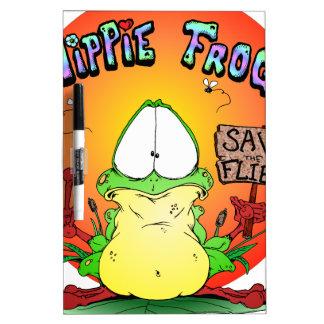 Crazy Hippie Frog Dry-Erase Whiteboards
