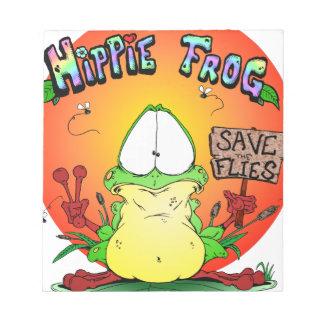 Crazy Hippie Frog Memo Note Pad