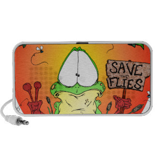 Crazy Hippie Frog Travelling Speakers