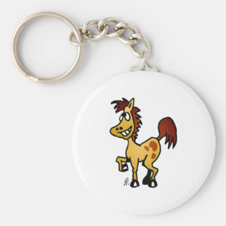 Crazy Horse Basic Round Button Key Ring
