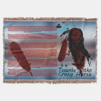 CRAZY HORSE BIBLIOGRAPHY THROW BLANKET
