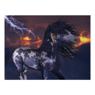 Crazy Horse Blue Posters