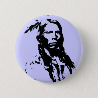 Crazy Horse Native American 6 Cm Round Badge