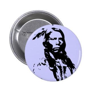 Crazy Horse Native American 6 Cm Round Badge